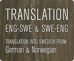 Translation English Swedish German Norwegian